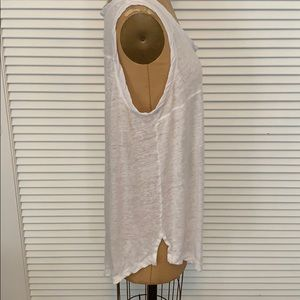 Free People Tops - Free People white linen tank